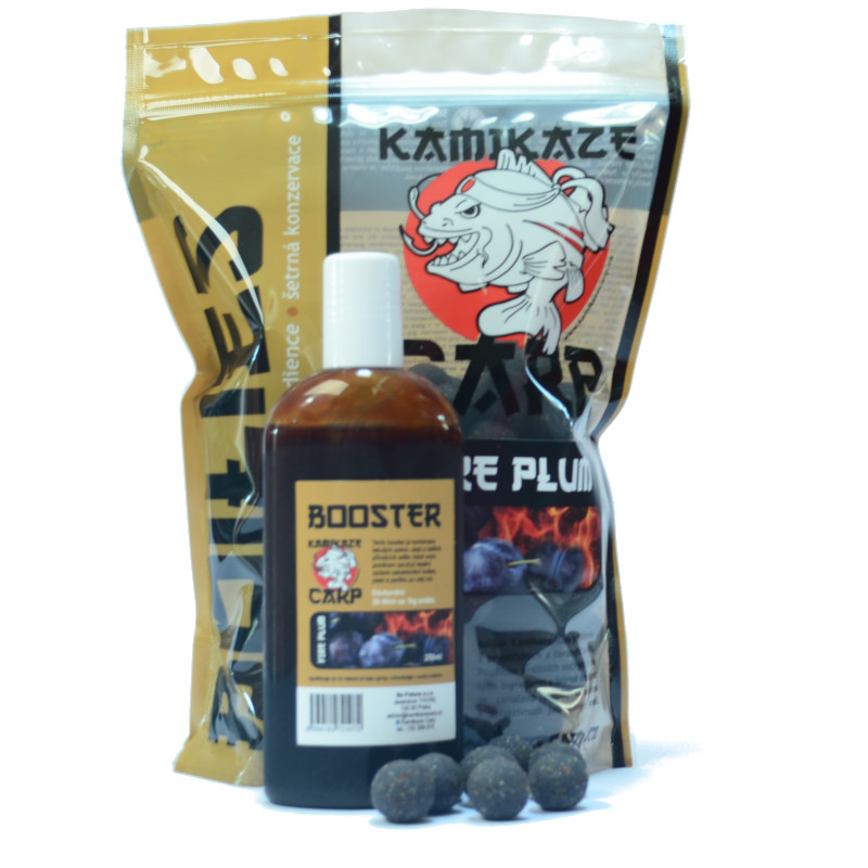 Boilies Fire Plum + booster